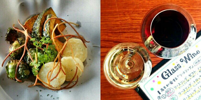 祥瑞札幌の料理とグラスワイン