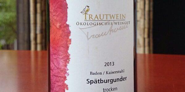 【ドイツ】「トラウトワイン」 シュペートブルグンダー