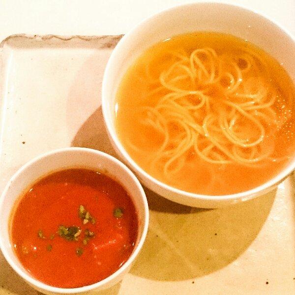 祥瑞風 つけパスタ スモークベーコンのトマトカレースープ