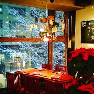 クリスマスのテラス席|祥瑞札幌